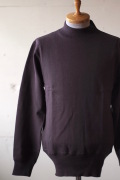 WORKERS USN Cotton Sweater Mock Neck Brown-1