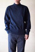 WORKERS USN Cotton Sweater Mock Neck Navy-1