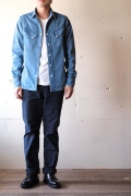 WORKERS Western Shirt Denim Washed-1