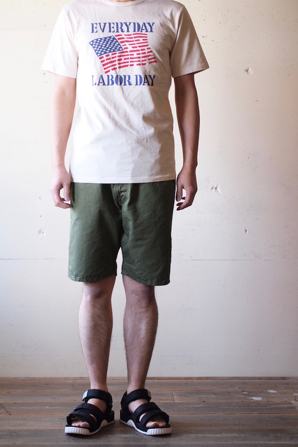 WORKERS EZ Shorts Cotton×Linen Karsey Olive-1