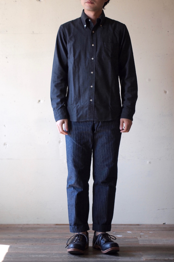 WORKERS Modified BD Shirt Brushed Twill C. Grey-1