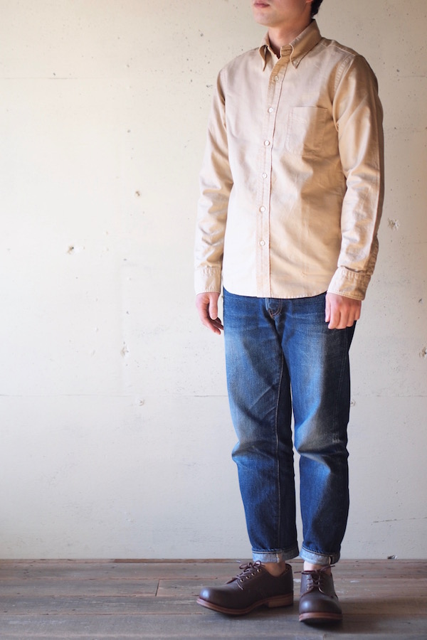WORKERS Modified BD Shirt Garment Dye Beige-1