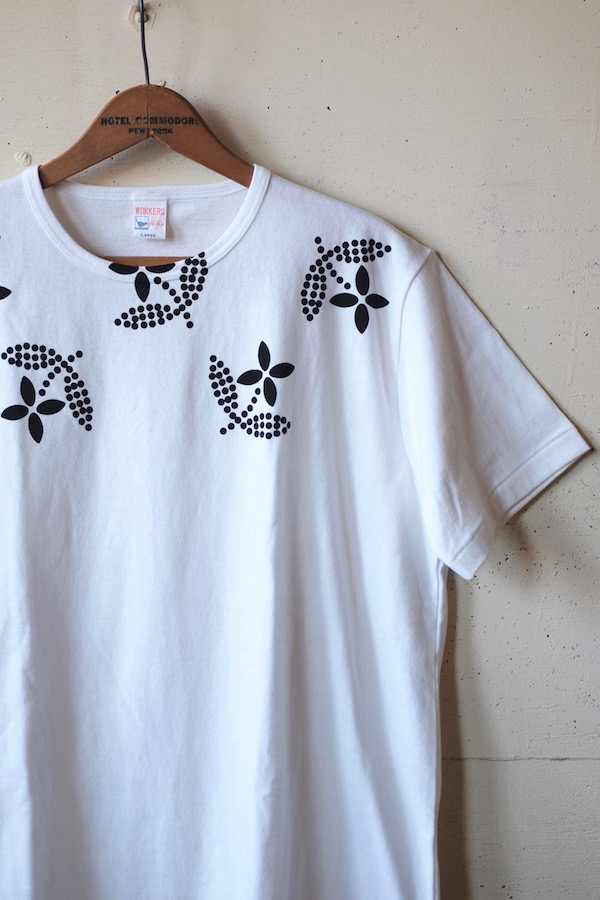 WORKERS Printed Tee Floral White-1