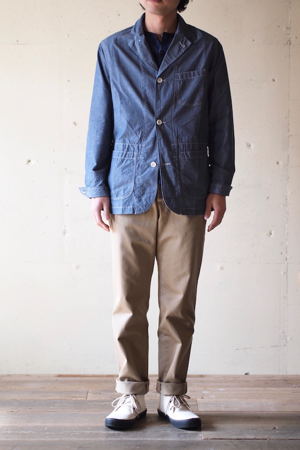 WORKERS Sack Coat Lt. Chambray Blue-1