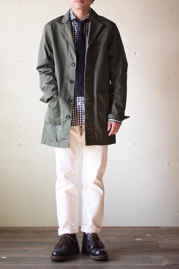 WORKERS Shop Coat 8oz Chino Khaki-1