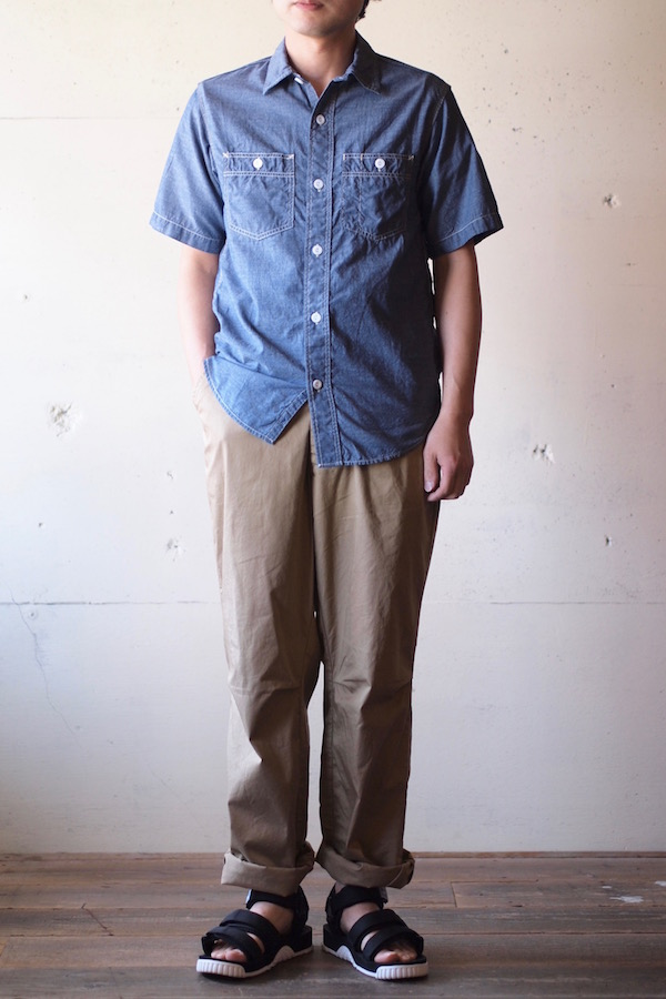 WORKERS Short Sleeve Work Shirt Lt. Chambray Blue-1