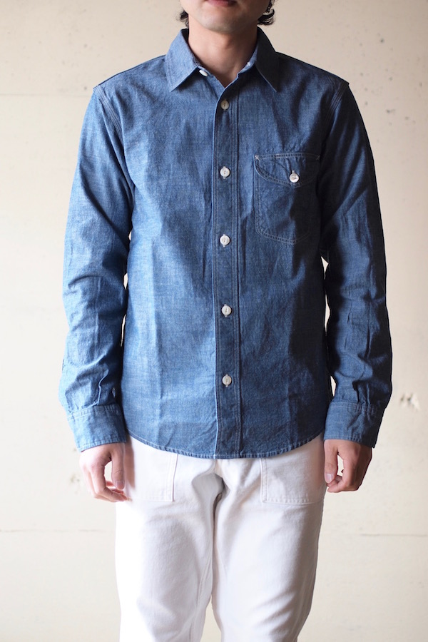 WORKERS Work Shirt 5.5oz Blue Chambray-1