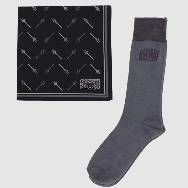 【2月下旬より発送】【ハンカチ&ビジネス靴下セット】HADES