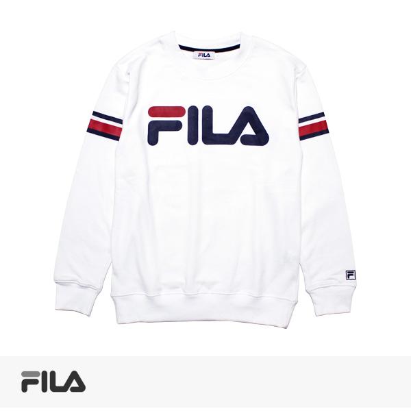 2017 SPRING FILA LINE PRINT SWEAT | WHITE / フィラ スウェット
