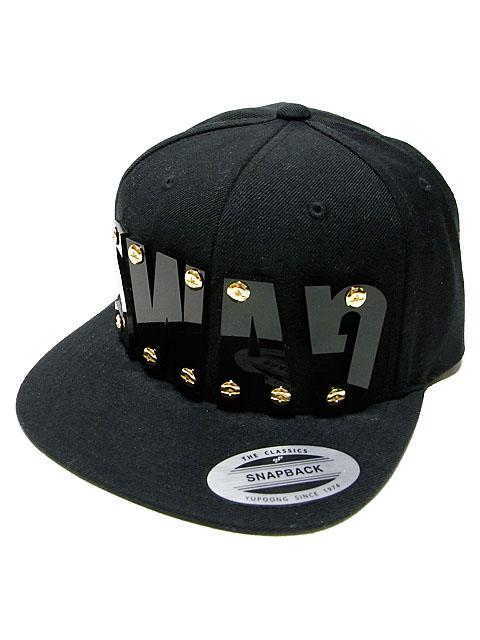 "DROPOU2 ""SWAG"" ACRYL FONT SNAPBACK CAP | BLACK / ドロップアウツ"