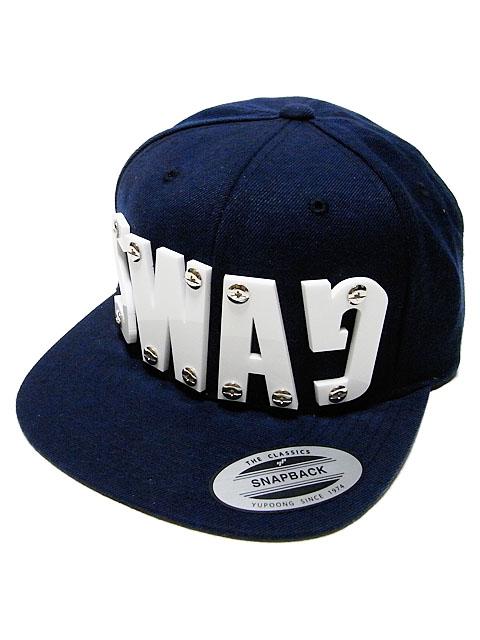 "DROPOU2 ""SWAG"" ACRYL FONT SNAPBACK CAP | NAVY / ドロップアウツ"