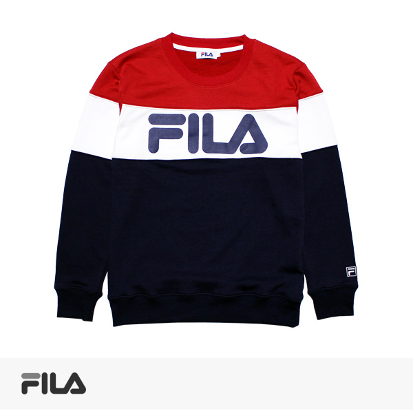 2017 SPRING FILA BICOLOR SWEAT | NAVY / フィラ スウェット