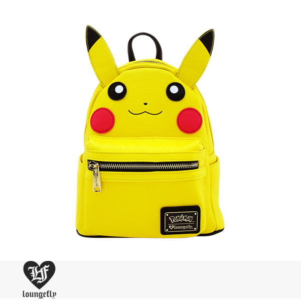 LOUNGEFLY × POKEMON PIKACHU COSPLAY FAUX LEATHER MINI BACKPACK / ラウンジフライ バッグ