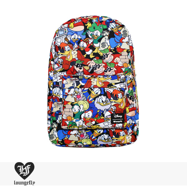 LOUNGEFLY × DISNEY DONALD DUCK FAMILY CHARACTER BACKPACK / ラウンジフライ バッグ