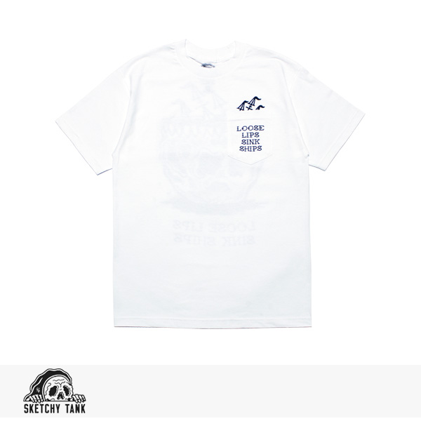 2017 SPRING SKETCHY TANK LOOSE LIPS POCKET TEE / スケッチータンク Tシャツ【2点以上購入でさらに8%OFF対象商品】