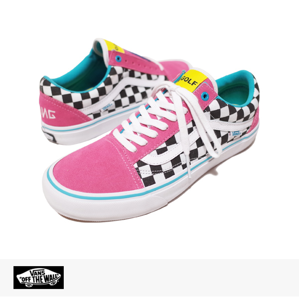 VANS PRO CLASSICS OLD SKOOL PRO GOLF WANG (ODD FUTURE) PACK | BLUE | PINK | WHITE / バンズ シンジケート