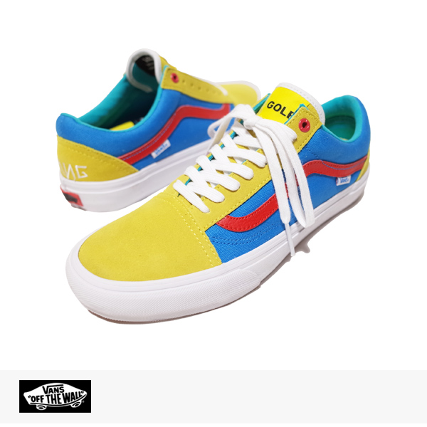 VANS PRO CLASSICS OLD SKOOL PRO GOLF WANG (ODD FUTURE) PACK | YELLOW | BLUE | RED / バンズ シンジケート