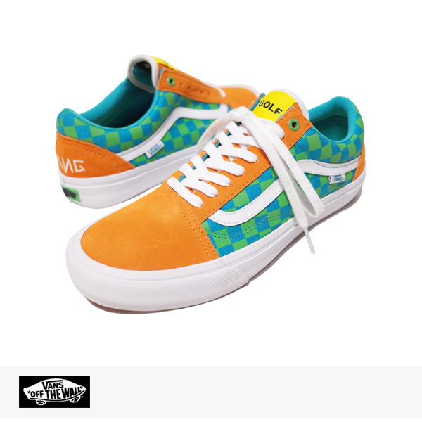 VANS PRO CLASSICS OLD SKOOL PRO GOLF WANG (ODD FUTURE) PACK | ORNAGE | BLUE | GREEN / バンズ シンジケート