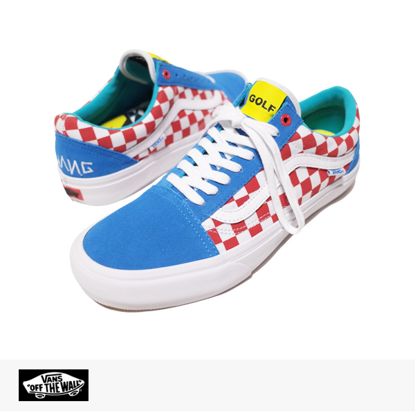 VANS PRO CLASSICS OLD SKOOL PRO GOLF WANG (ODD FUTURE) PACK | BLUE | RED | WHITE / バンズ シンジケート