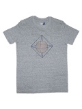 SLUDGE HAND PRINT T-SHIRTS 003TEE GRAY