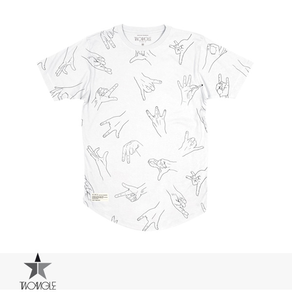 2017 S/S TWO ANGLE GANGZ TEE   WHITE / トゥーアングル Tシャツ