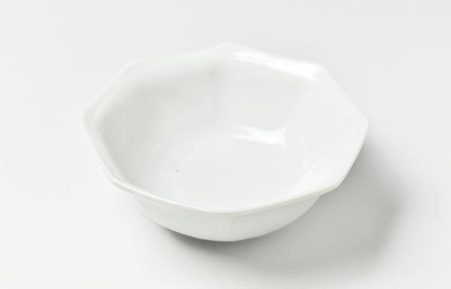 九谷青窯 白磁八角反り鉢(小)