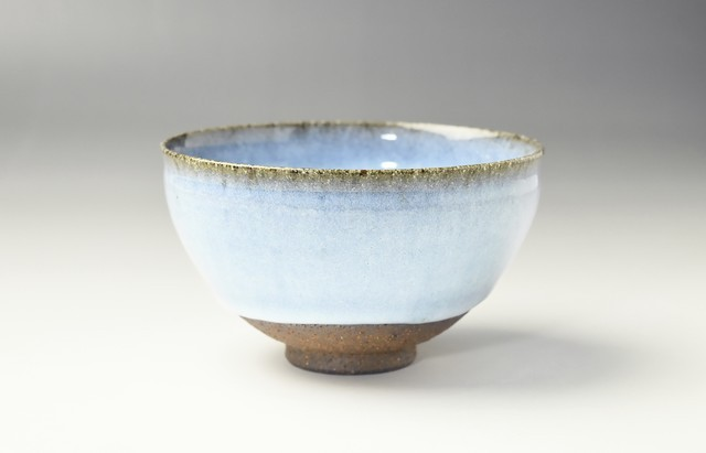 瀧田操 蜜柑釉茶碗