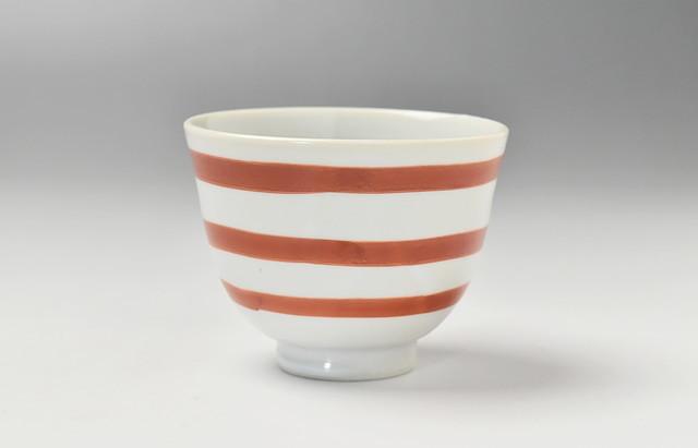 ほたる窯 朱巻煎茶碗(中)