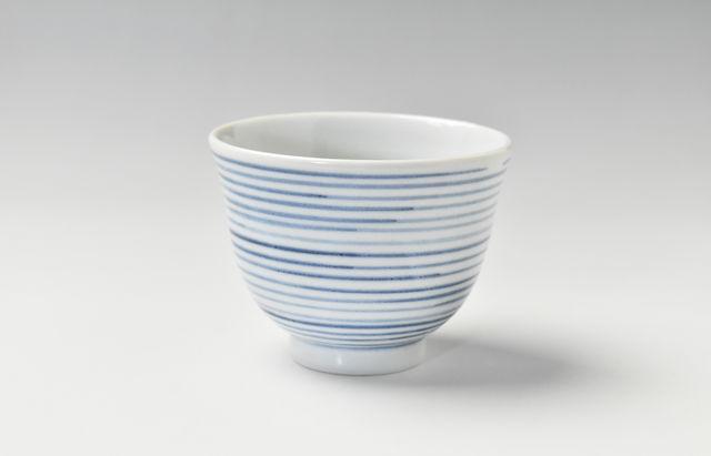 ほたる窯 千段線煎茶碗