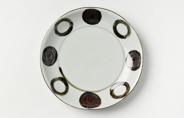 須谷窯 サビ丸文7寸皿