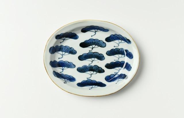 須谷窯 松文楕円皿(小)