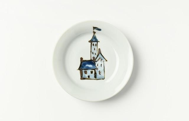 林京子 キャッスル文4.5寸皿
