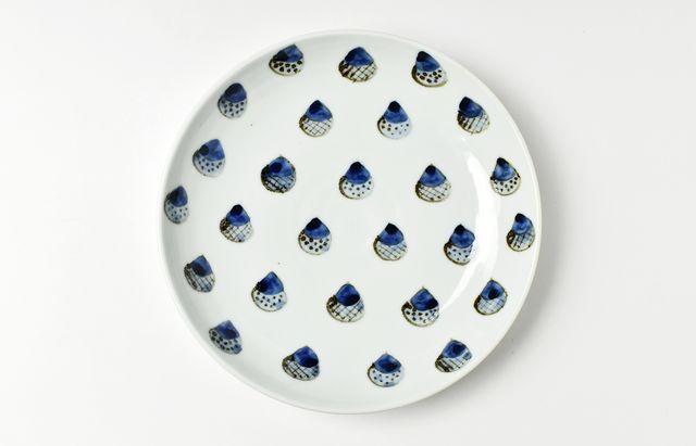 林京子 どんぐり並び7寸皿