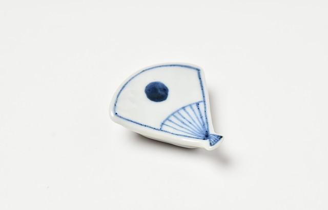 海野裕 箸置 扇日の丸