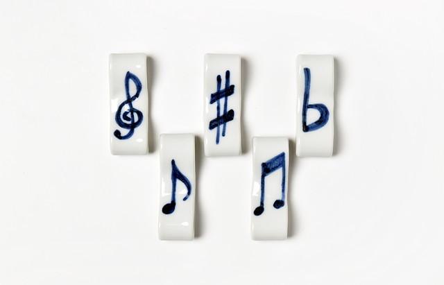 海野裕 音符箸置セット