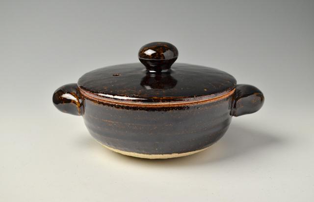 杉本寿樹 アメ釉ロール土鍋