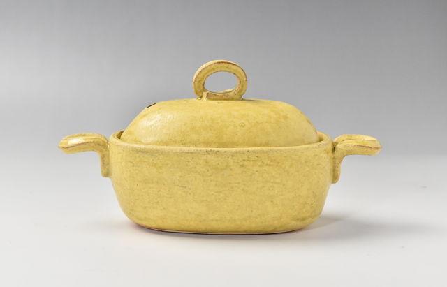 小川佳子 耐熱 楕円鍋(小)黄