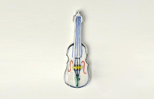 重田良古 箸置 バイオリン