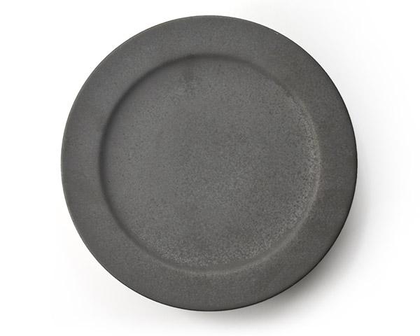 和食器 ブラックプレート(8寸) 作家「東一仁」