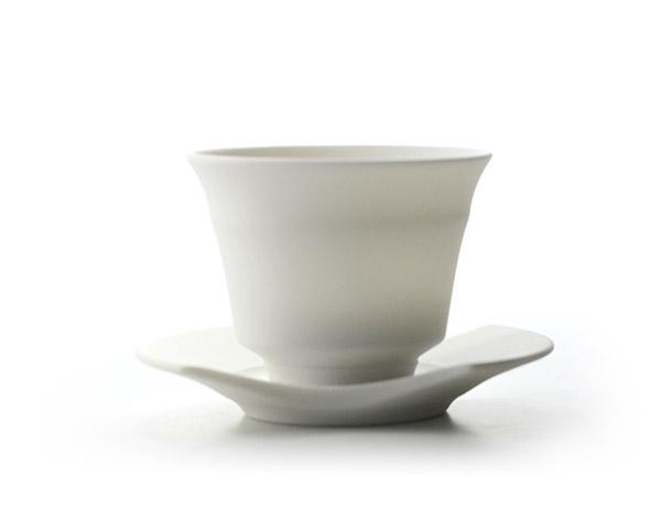 和食器 白磁煎茶碗揃 作家「東一仁」