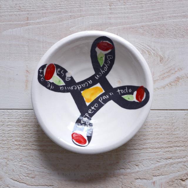 和食器 色絵Plate(ブーメラン)  作家「吉岡萬理」