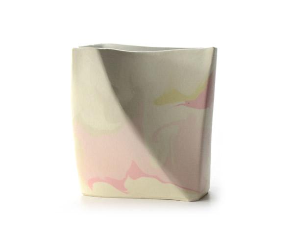 彩墨流花器(Pink)  作家「瀬津純司」