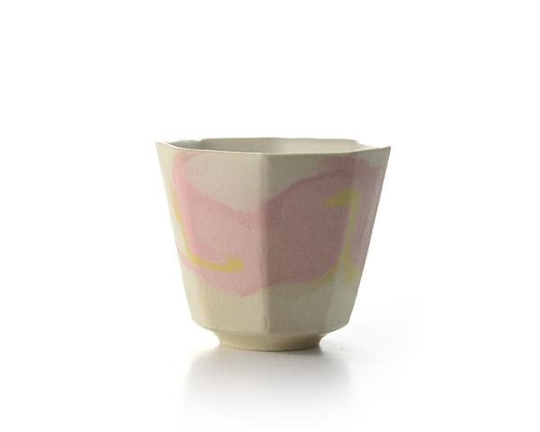 彩墨流酒器 (Pink) 木箱付   作家「瀬津純司」