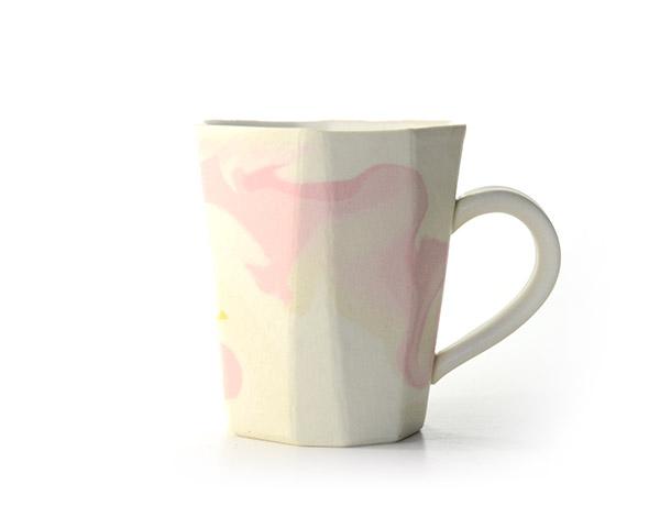 彩墨流マグカップ(pink) 作家「瀬津純司」
