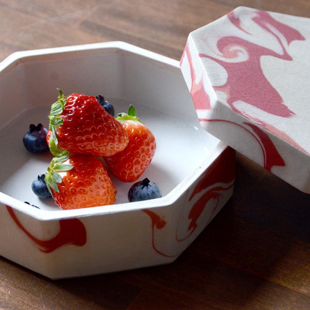 和食器 彩墨流陶箱 -赤- 作家「瀬津純司」