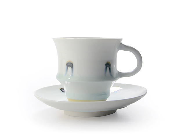 和食器 ガラス釉カップ&ソーサ 作家「荒木漢一」