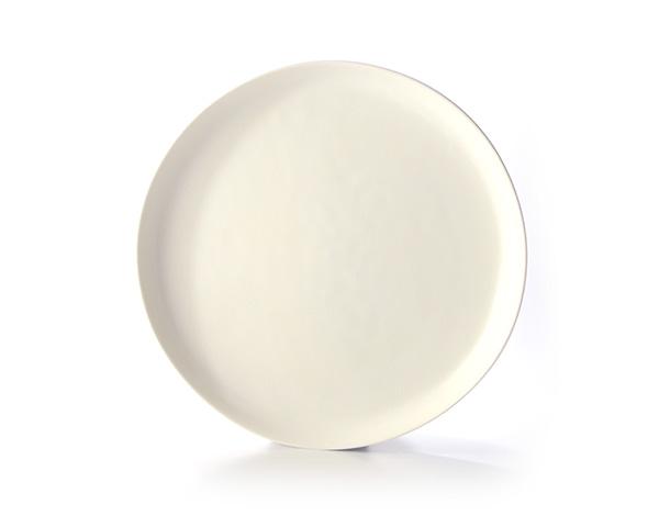 白磁 Low Rise Plate (M) 作家「竹内紘三」