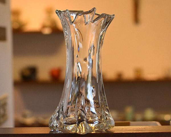 ガラス花器 Glass Art Vase  作家「原光弘」