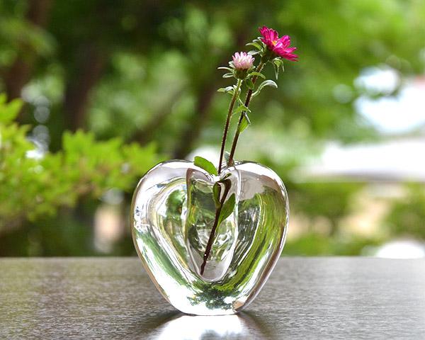 ガラス花器 Glass Art Vase(ハート)  作家「原光弘」