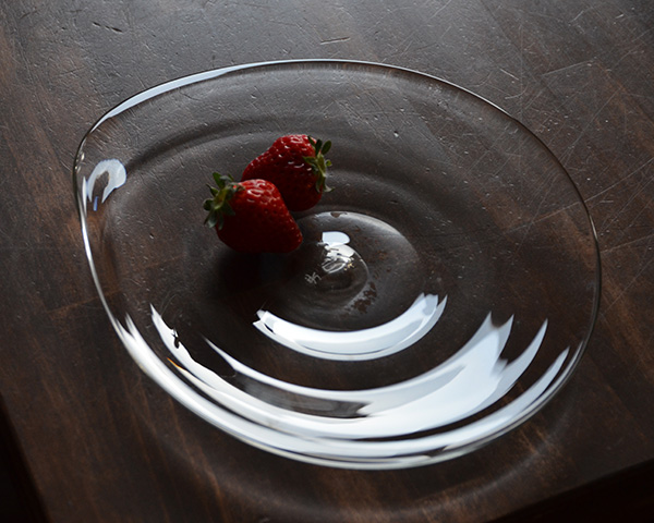 ガラス しずく皿 (M)  作家「原光弘」
